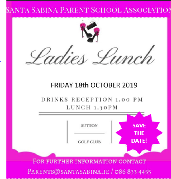 SAVE THE DATE! Friday 18th October 2019
