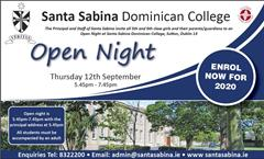 Open Night 12th Septemeber 5.45 to 7.45
