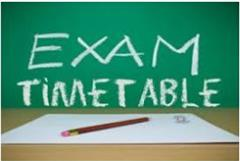 SUMMER EXAMS TIMETABLES